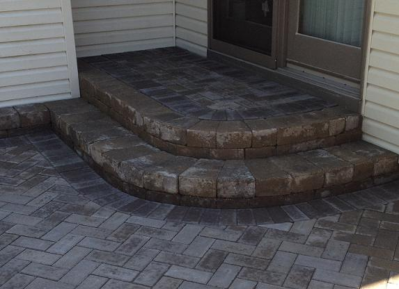 brick patio steps
