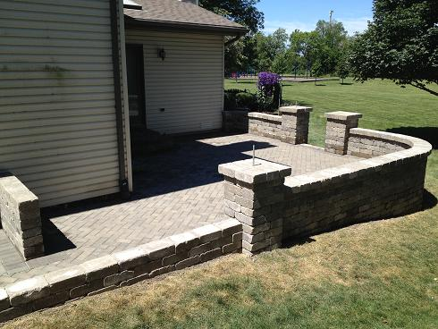 outdoor living - brick patio