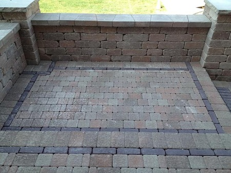 Brick Patio Detail Work