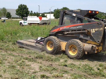 Field Mowing Skid Steer